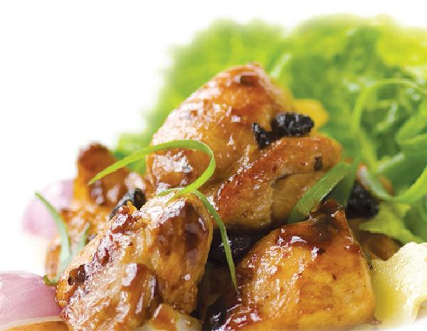香爆豆豉雞