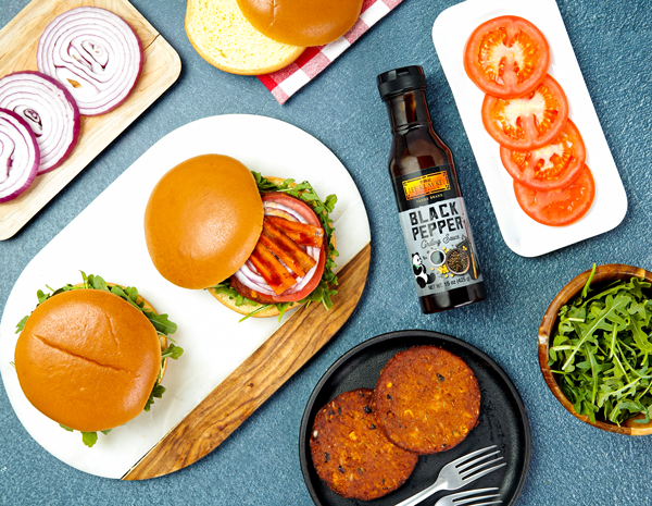 Recipe Black Pepper Lentil Burger