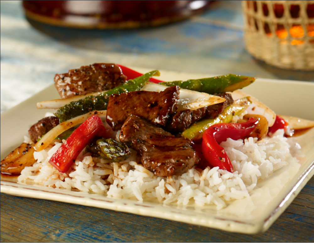 Recipe Black Pepper Steak with Oyster Flavored sauce