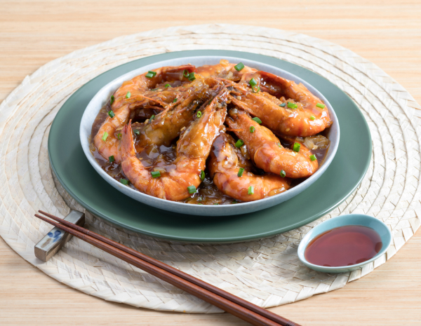 蒜香酸甜大蝦