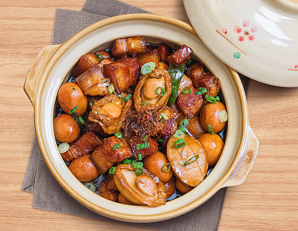 Recipe Braised Abalone and Pork Belly