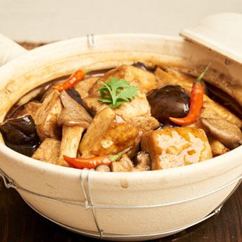 Recipe Braised Tofu with Shiitake Mushrooms S