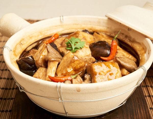 Recipe Braised Tofu with Shiitake Mushrooms