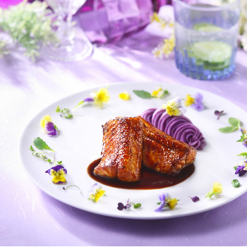 Brown Braised Eel with Mashed Purple Sweet Potatoes