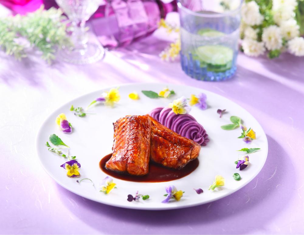 Recipe Brown Braised Eel with Mashed Purple Sweet Potatoes