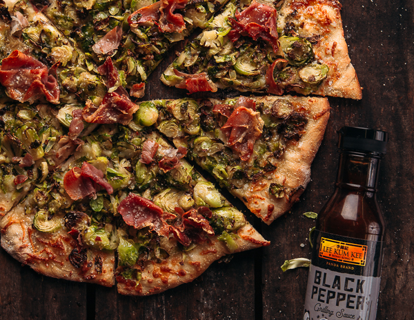 Recipe Brussels Sprouts and Prosciutto Pizza