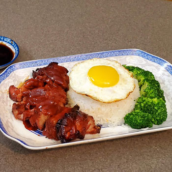 Recipe Char Siu with Fried Egg over Rice S