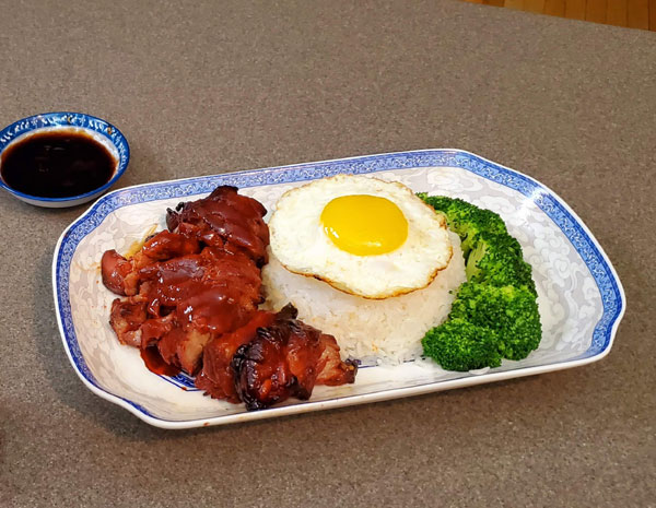 Recipe Char Siu with Fried Egg over Rice