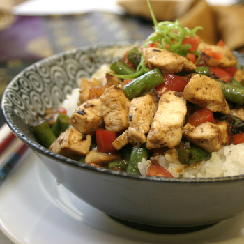 Recipe Chicken and Vegetable Rice Bowl