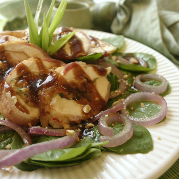 Recipe Chicken Bacon Wrap with Spinach Salad S