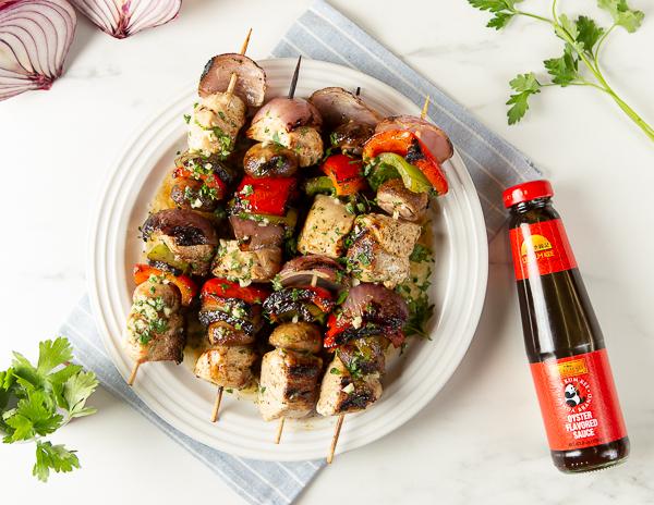 Recipe Chicken Kebabs with Garlic Butter Re
