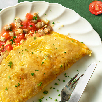 Recipe Chicken Mushroom and Tomato Omelet S