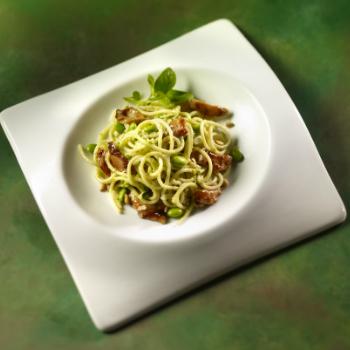 Recipe Chicken Pasta with Edamame Pesto S