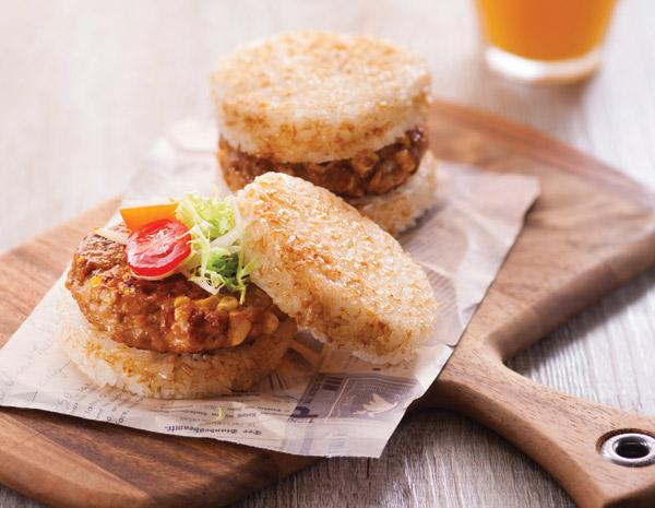 免治雞肉米漢堡