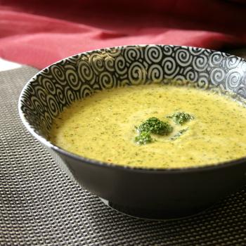 Recipe Chili Garlic Infused Broccoli Cheese Soup