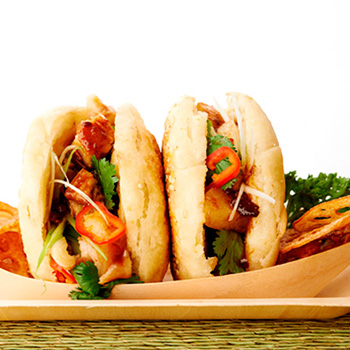 Recipe Chinese Buns with Sliced Pork Belly S