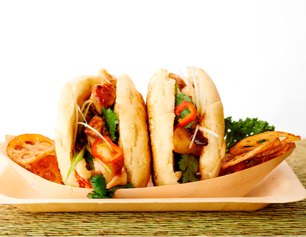 Recipe Chinese Buns with Sliced Pork Belly