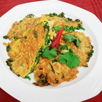 Recipe Chinese Chive and Shrimp Omelet S