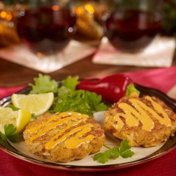 Recipe Christmas Crab Cakes with Sriracha Mayo S