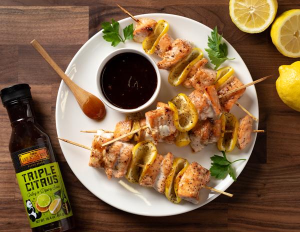 Recipe Citrus Salmon Skewers