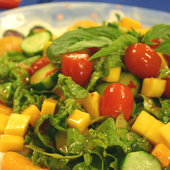 Recipe Cucumber Mango Salad with Chili Garlic Sauce