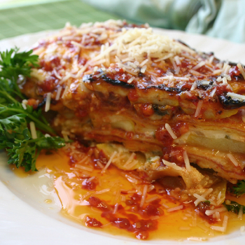 Recipe Flour Tortilla Vegetable Lasagna with Chili Garlic Sauce S