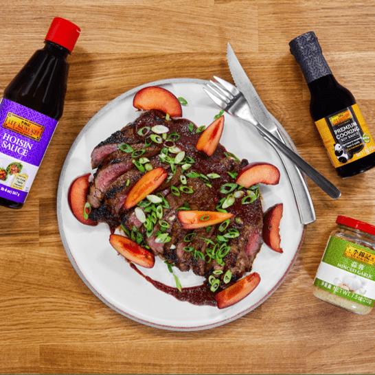 Recipe for Plum Hoisin BBQ Roasted Flank Steak S