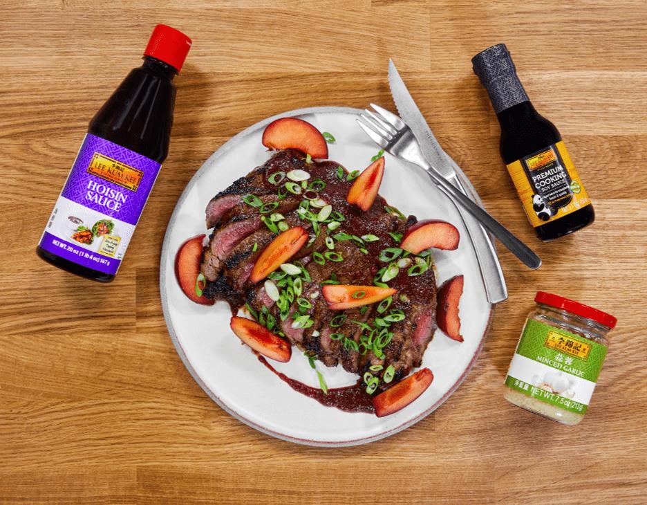 Recipe for Plum Hoisin BBQ Roasted Flank Steak