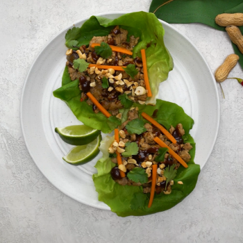 Recipe for Thai Turkey Lettuce Cups S
