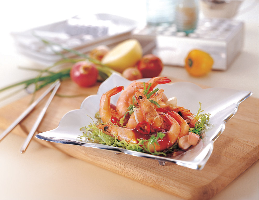 Recipe Fried Prawns with Oyster Flavored Sauce