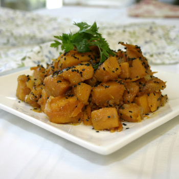 Recipe Fried Pumpkin with Sesame  and Lee Kum Kee Premium Soy Sauce S