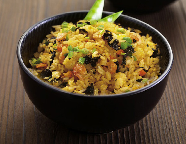 Recipe Fried Rice with Dried Baby Shrimp and Seaweed