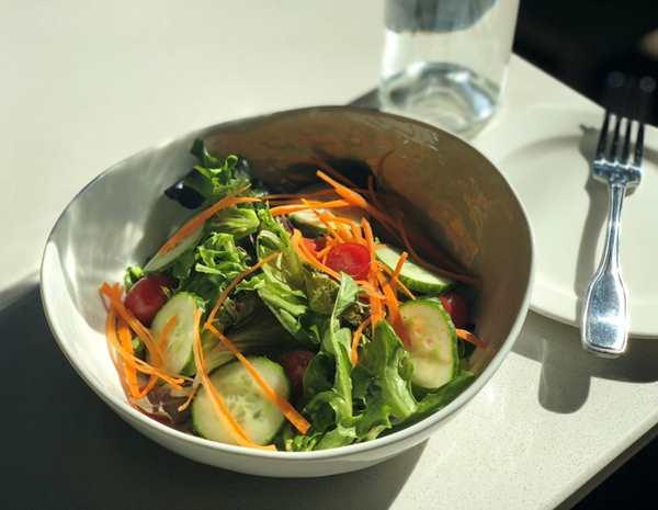 Recipe Garden Green Salad with Oyster Sesame Vinaigrette