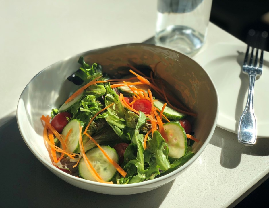 Recipe Garden Green Salad with Oyster Sesame Vinaigrette