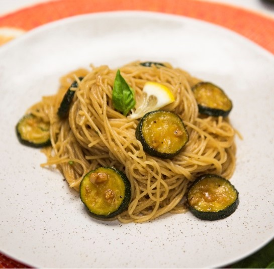 Recipe Garlic Angel Hair with Oyster Sauce and Zucchini S