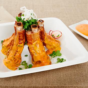 Recipe Garlic Flavored Spare Ribs with Sriracha Mayo