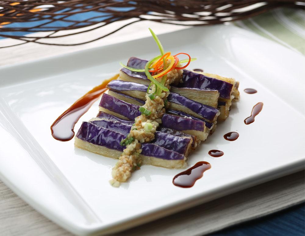 Recipe Garlic Flavored Steamed Eggplant
