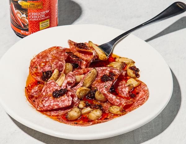Recipe Garlic Pepper Salami Bites