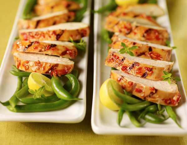 Recipe Grilled Chicken with String Beans