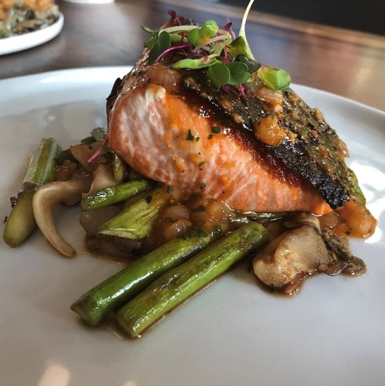 Recipe Grilled Fillet of Salmon with Oyster  Roe Butter Sauce S