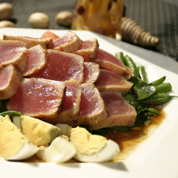 Recipe Grilled Ginger Tuna with Premium Soy Sauce S