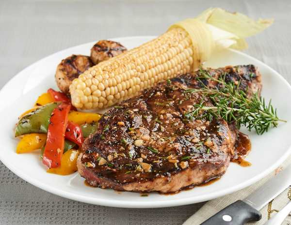 Recipe Grilled Steak with Oyster Flavored Sauce