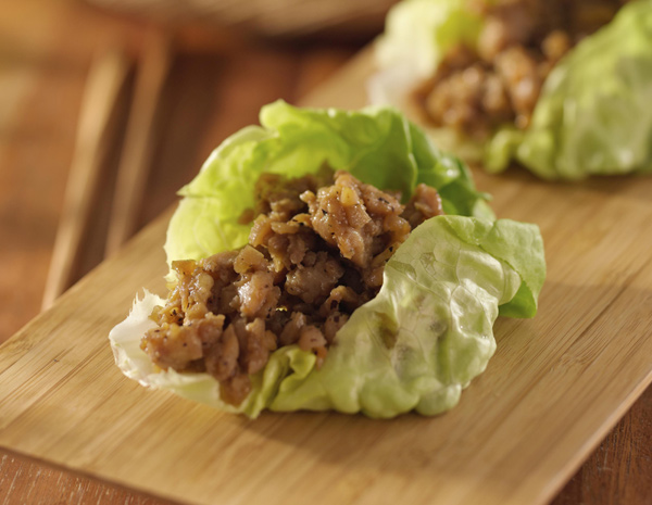 Recipe Hoisin and Mustard Flavored Minced Chicken