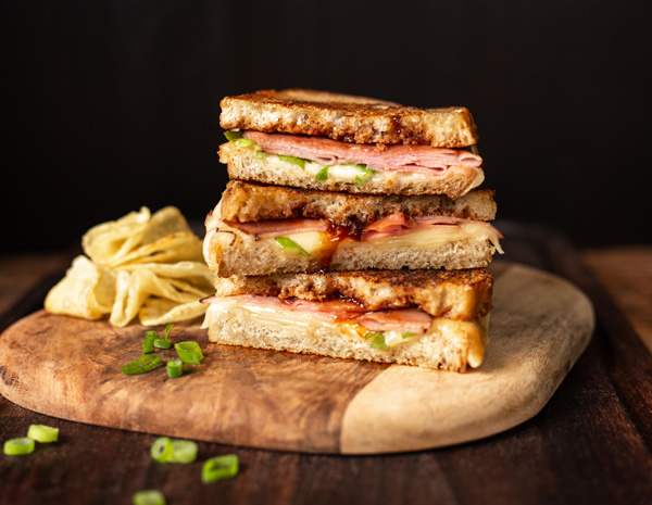 Recipe Hoisin Ham and Cheese Sandwich