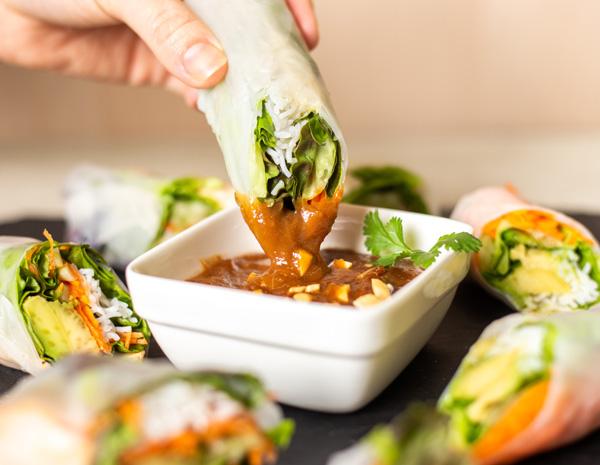 Recipe Hoisin Peanut Dipping Sauce for Spring Rolls