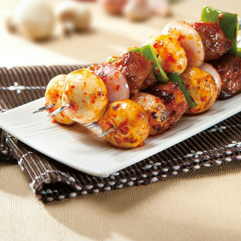 Recipe Honey Oyster BBQ Pork Skewers S