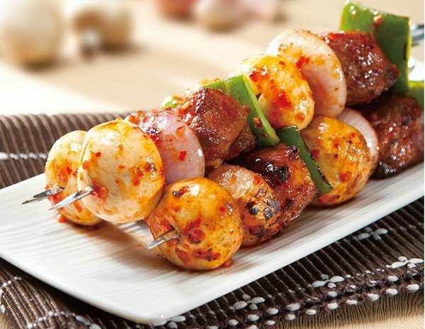 Recipe Honey Oyster BBQ Pork Skewers