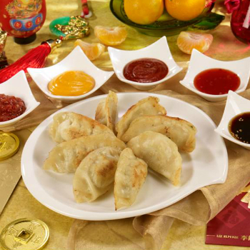 Recipe Lucky New Year Dumplings with 5 Sauces S