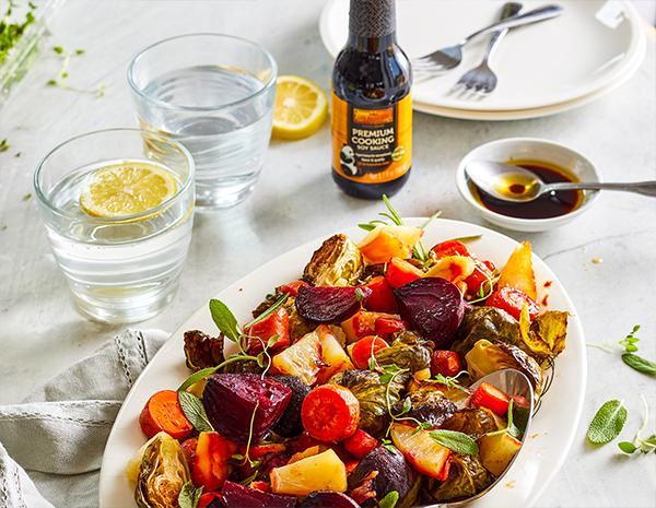 Recipe Miso Glazed Roasted Root Vegetables