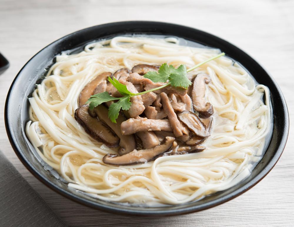 Mushroom and Pork Noodle Soup